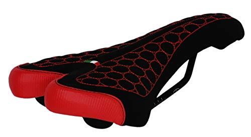 Sillín FatBike Montegrappa para bicicleta MTB Trekking Unisex Mod. SM 4010 Made in Italy Color Rojo