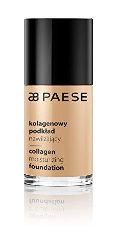 Paese Cosmetics 301W Ivory Collagen Moisturizing Foundation, Medium Coverage, with Aloe Vera, 30ml