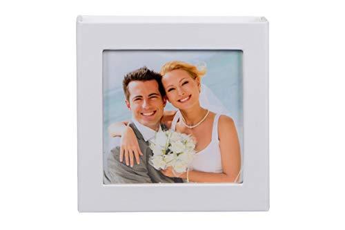 Hochzeit USB-Box mit Gummihalterung Farbe Weiß