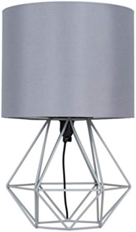 JYTD Tischleuchte Dekorative Retro Geometrische Tischlampe Trommel Schatten Nacht Home Beleuchtung Licht Für Schlafzimmer Wohnzimmer Arbeitszimmer Lampe