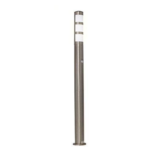 Grafner® XXL Edelstahl Standleuchte mit Bewegungsmelder 110cm Wegleuchte Weglampe Gartenlampe