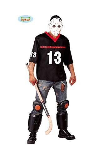 Hockey-Spieler Halloween Kostüm für Herren Halloween Horror Killer Gr. M/L, Größe:L