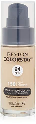 Revlon ColorStay Liquid Foundation Makeup for Combination/Oily Skin SPF 15, Longwear Medium-Full Coverage with Matte Finish, Buff (150), 1.0 oz