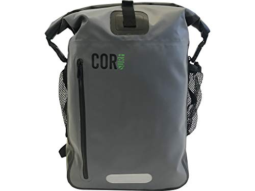 COR 25L Wasserfester Rucksack mit gepolsterter Laptoptasche, 25 Liter (Grau, 40 L)