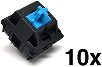Cherry MX Blue Keyswitch (10 pack) - MX1AE1NN | Plate Mounted | Tactile Click