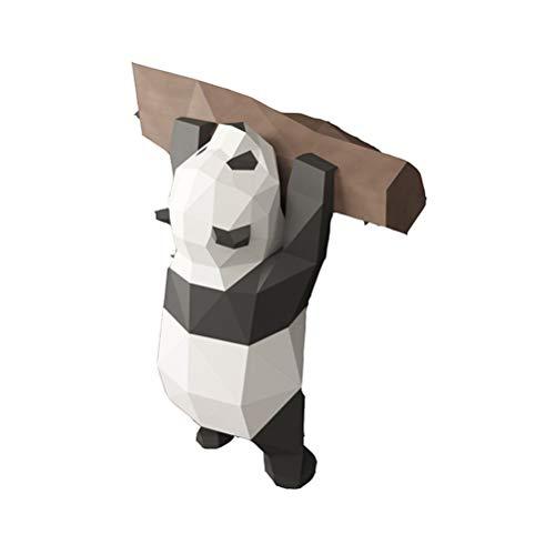 Asamio - Figura de panda 3D de papel DIY Animal Papercraft figuras de acción, rompecabezas, regalo para niños montados en la pared, juguetes de origami