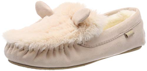 flip*flop Damen loafermouse Hausschuh, Beige (Powder 2040), 37 EU