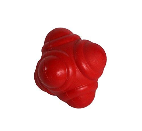 STOP! Fitness - SAQ und Reaktionsball für die Entwicklung von Schnellkraft und Reaktionsschnelligkeit - Durchmesser 7 cm - Inklusive Anleitung mit Übungsbeispielen (rot)