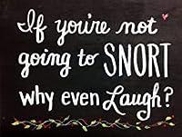 あなたが笑うつもりがないのなら、なぜ笑うのか、ブリキのサインヴィンテージ面白い生き物の鉄の絵の金属板ノベルティ