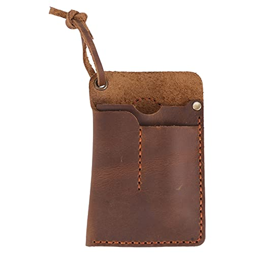 Karelu Organizador de piel hecho a mano EDC para bolsos, linterna, multiherramientas/cuchillo/lápiz