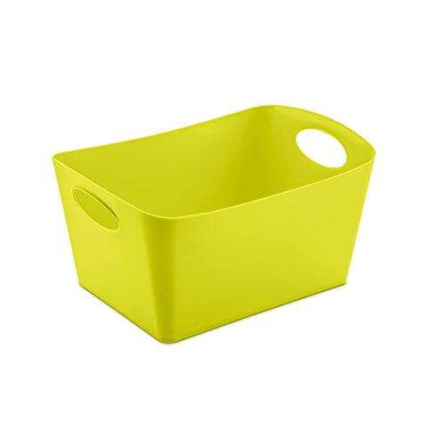 koziol caissette de rangement 3,5 l Boxxx M, thermoplastique, vert moutarde, 20,3 x 29,7 x 15 cm