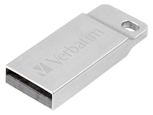 Verbatim Executive USB 2.0 aus Metall - 16 GB - robuster Stick mit USB 2.0-Schnittstelle - inklusive praktischem Schlüsselring - silber, 98748