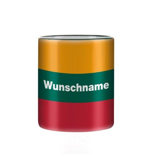 Herz und Heim® mit Wunschnamen & Flagge - Litauen -