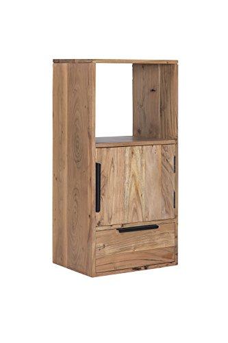 Woodkings® Wandregal Auckland massiv Holz Hängeschrank 1Tür/1Schub/1Fach, Hängeregal, passend zum TV Lowboard, Holzmöbel, Wohnwand Modul, Regalsystem, Holzregal, Hängeregal (Holz - Akazie)