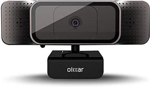 Olixar HD 720P - Webcam USB universal con micrófono, color negro
