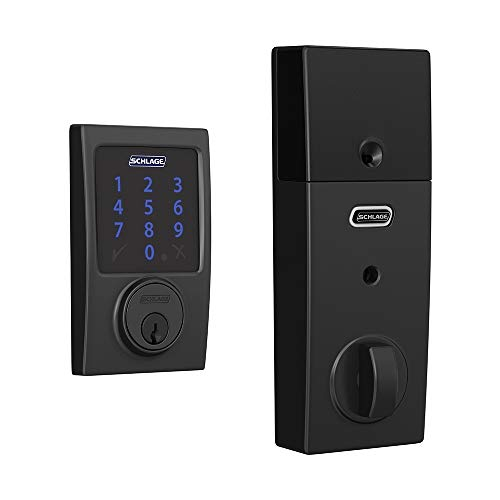Schlage BE469ZP CEN 622 Connect Smart Deadbolt with alarm with Century Trim...