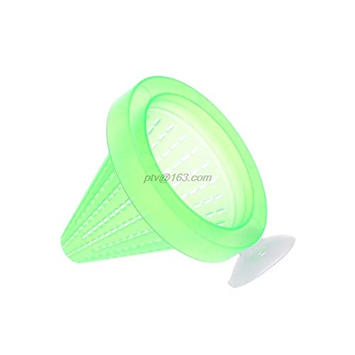 HenShiXin Planted Aquarium Fish Feeder Red Worm Feeding Cup Fish Tank Plastic Funnel Feeder With Suckers Tanks (Color : White)