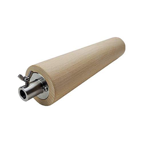 Moesta-BBQ 10364 FeuerWalze - Buchenholzrolle für Rotisserie – Baumstriezel, Baumkuche, Kaminbrot oder Cannoli selber Machen (Durchmesser bis 13,8mm)