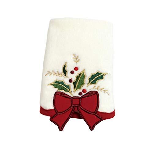 ABOOFAN Toallas de mano navideñas de cocina, toallas de baño, toallas de cocina con patrón de lazo.