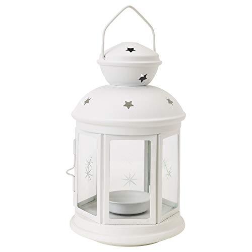 IKEA.. 301.229.86 - Farol para Vela, Color Blanco para Interior/Exterior