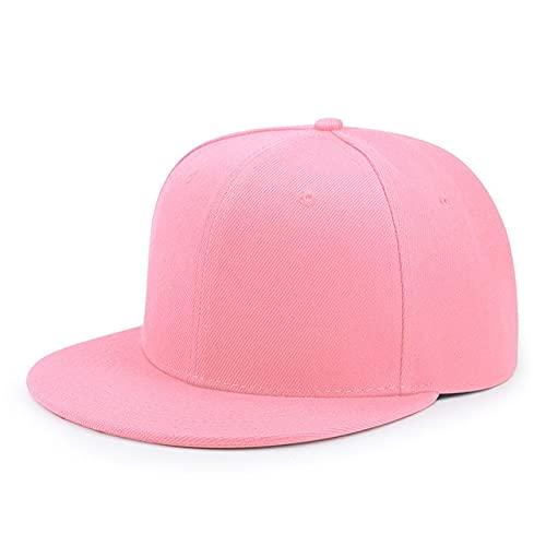 Gorras de béisbol de Talla Grande para Hombre, Gorra Ajustada de Hip Hop con Pico Plano para Adultos, Gorra Snapback de Gran tamaño para Hombres y Mujeres-Pink colour-5-64cm
