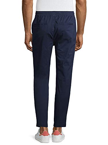 No Boundaries Men's Tapered Stretch Jogger Pants (Navy, Small 28/30)