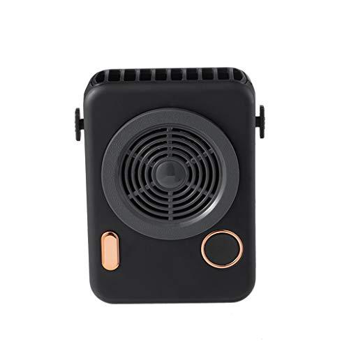 DFSDG Nuevo Mini refrigerador de Aire del Ventilador de Cuello portátil para Sala de Viaje al Aire Libre con Pantalla Inteligente Recargable USB Batería incorporada 2000MA (Color : A)