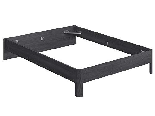 Marca Amazon -Movian Indre Modern - Base para cama de matrimonio con cabecero bajo, 194,5 x 144,5 x 31,7 cm (gris)