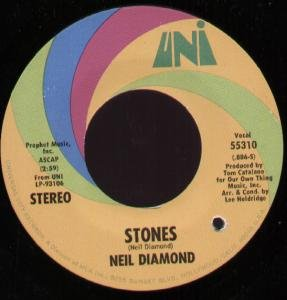 STONES 7' (45) US UNI 0 B/W CRUNCHY GRANOLA SUITE BUT HAS SMALL DELETION DRILL HOLE (55310)