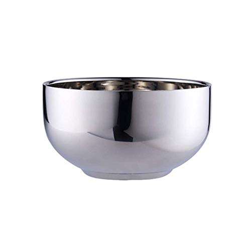 TIN-YAEN Bowl, stainless-steel bowl, double anti-scalding, youngsters's bowl, drop-proof, mixing bowl, appropriate for household, business restaurant Bowls