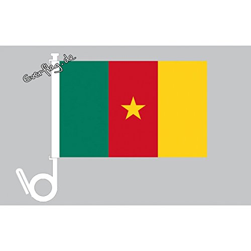 Everflag Auto-Fahne: Kamerun - Premiumqualität