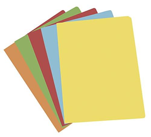 Elba Gio - Confezione da 50 cartelline semplici, formato A4, multicolore