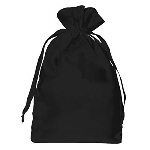Unique 5unidades joyas bolsa grande XL satén bolsa con cordón negro corazones para joyería y regalos