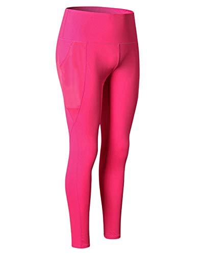 Pantalones De Comprensión Deportivos para Mujer Leggings Mallas Largas De Deportivos Baselayer Gimnasio Entrenamiento Rose M