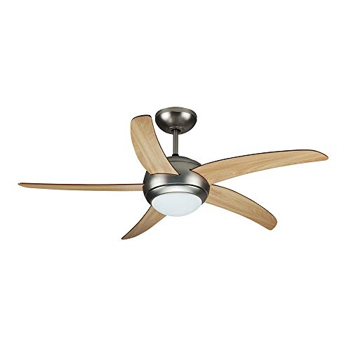 Ceiling Fan with Light Kit (Remote Control), 2xE27 Bulbs 60W Wind Speeds 5...