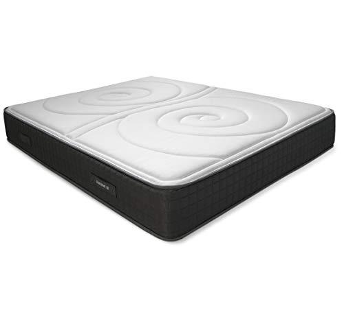 Duérmete Online Colchón Viscoelástico Duo Reversible | Altura 25cm | Confort Máximo | Acolchado Exclusivo, Biogel, 90x190
