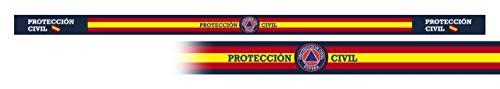 Pulsera PROTECCIÓN CIVIL 6 unidades tamaño 33 x 1,4 cm de hilo tricotado Caza, Pesca, Camping, Outdoor, Supervivencia y Bushcraft + portabotellas de regalo