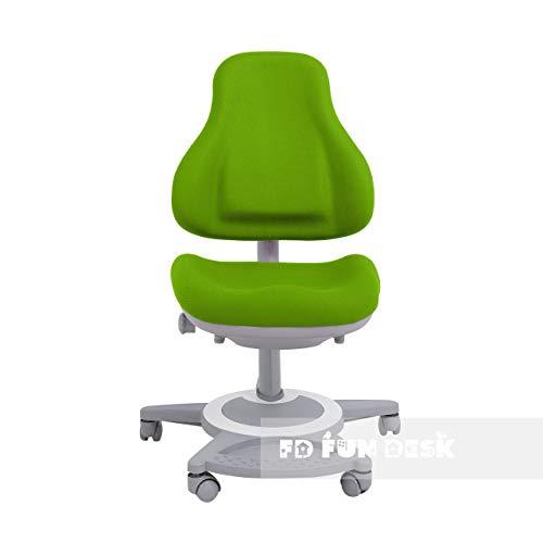 Preisvergleich Produktbild FD FUN DESK Bravo Green höhenverstellbarer Schreibtischstuhl,  Stuhl für Kinder,  Polyester,  Schaumschwamm,  Grün,  650x480x800-970 mm