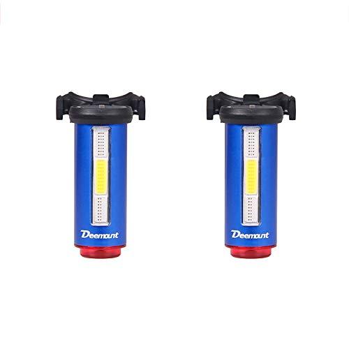 xxffyy Luz para Bicicleta, luz Trasera Recargable por USB para Bicicleta, 7 Faros Delanteros con Modo de luz Rojo, Blanco y Azul para luz de Linterna de Seguridad para Ciclismo
