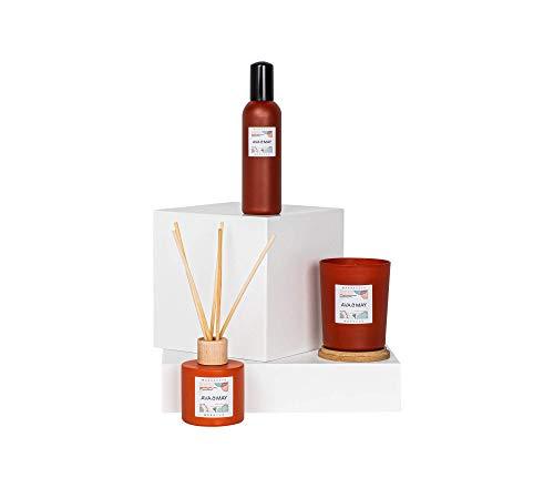 AVA & MAY Marrakesh Home Fragrances Collection - Set di fragranze orientali con candela vegana, bastoncini profumati e spray per ambienti – Set di profumo per le vacanze