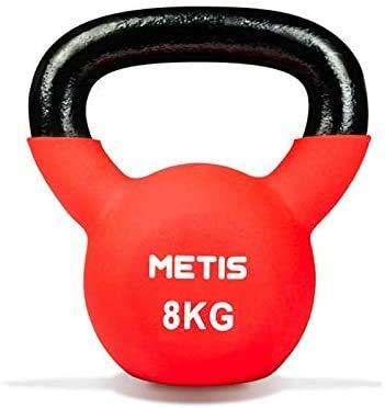 METIS Kettlebell avec Revêtement en Néoprène - 4kg à 20kg | Poids pour Entraînements de Fitness à Domicile ou Gym (4kg)