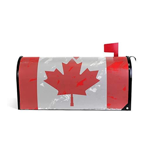 Kanada-Flagge, Weltflaggen, Kingdom-Emblem, magnetische Briefkastenabdeckung, Garten, Heimdekoration, Standardgröße 50,8 x 45,7 cm