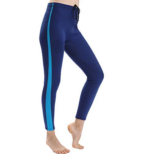 Flexel Women Wetsuit Pants 2mm Girls Premium Neoprene Wet Suit XSPAN Trousers Scuba Diving Leggings for Swimming Snorkeling Surfing Fishing (2mm Blue Pant Women, Small)