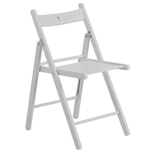 Chaise en bois pliante - couleur bois blanc