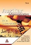 Escala auxiliar administrativa de la universidad de cádiz. Test