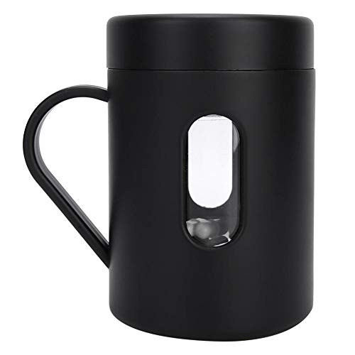 GLOGLOW Self Stirring Coffee Mug, 320ml Portable Temperature Difference Automatic Stirring Cup Mixing Travel Mug for Cocoa Chocolate Mocha Matcha Latte Tea(Black)