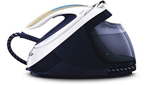 Philips Plancha de vapor PerfectCare Elite GC9635/20 - 2700 W, salida de vapor constante de 155 g/min, golpe de vapor de 520 g, bomba de máximo 7,5 bar, vapor vertical, color azul oscuro/blanco