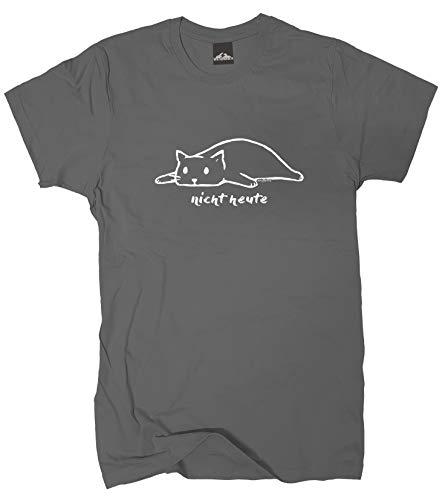 Wolkenbruch® T-Shirt Nicht Heute Katze, grapitgrau, Gr.XXL