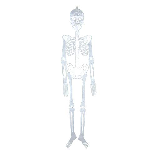 zhenleisier Halloween Decoration Props,Horror Luminous Movable Skull Skeleton Scary Party Club Prank Set Props Halloween Club Bar Haunted House Home Holiday Party Carnival Decor 90cm