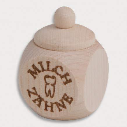 Boîte en bois, avec bouchon à vis, Dents de lait